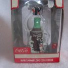 Coca Cola Coke 2004 Christmas Mini Snowglobe Coke Bottle Ornament  - NIB - FREE SHIPPING