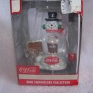 Coca Cola Coke 2004 Christmas Mini Snowglobe Snowman Ornament  - NIB - FREE SHIPPING