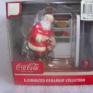 Coca Cola Coke 2004 Christmas Illuminated Santa Ornament  - NIB - FREE SHIPPING