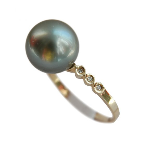 14K Gold 10-11mm Tahitian South Sea Pearl Ring SRGB-301011023
