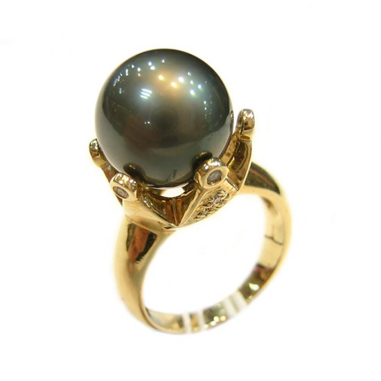 14K Gold 11-12mm Tahitian South Sea Pearl Ring SRGB-301112020