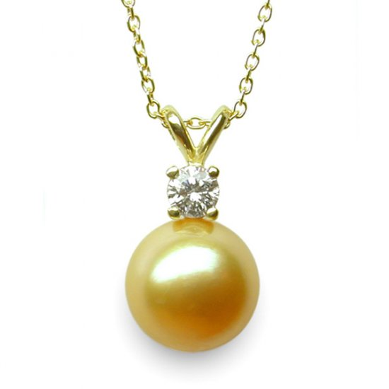 14K Gold 11-12mm Tahitian South Sea Pearl Pendants SPGG-301112012