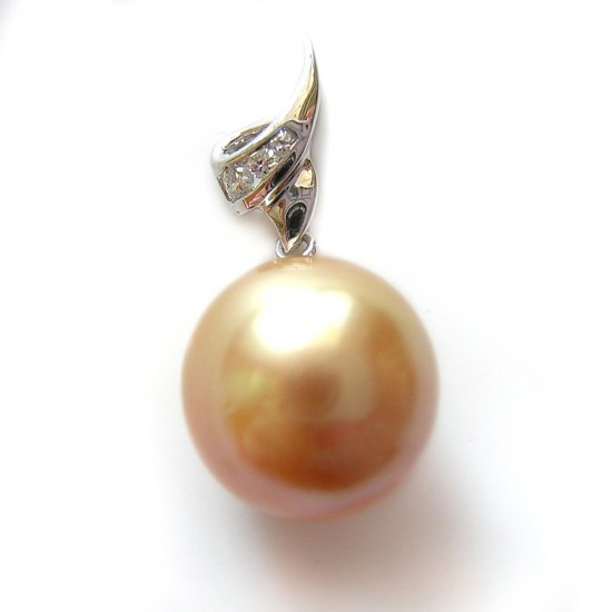 14K Gold 11-12mm Tahitian South Sea Pearl Pendants SPWG-301112011