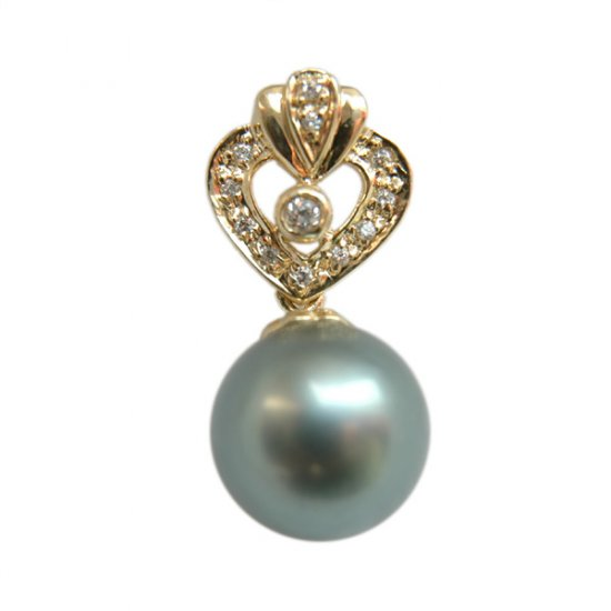 14K Gold 11-12mm Tahitian South Sea Pearl Pendants SPGB-301112019