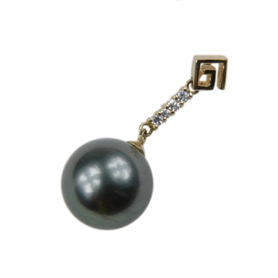14K Gold 11-12mm Tahitian South Sea Pearl Pendants SPGB-301112020