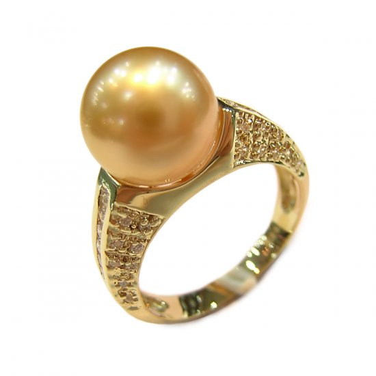 14K Gold 10-11mm South Sea Pearl Ring SRGG-301011003z