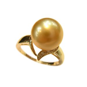 14K Gold 10-11mm South Sea Pearl Ring SRGG-301011005z