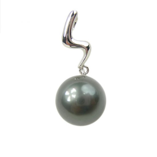 14K Platinum Tahitian 11-12mm Tahitian South Sea Pearl Pendants SPWB-301112026