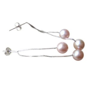 14K Gold 6-7mm Round Freshwater Pearl 14K Gold Earrings  FEWPU-300607006