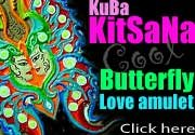 thai buddha amulet  KUBA KITSANA KING of BUTTERFLY LOVE + SEX