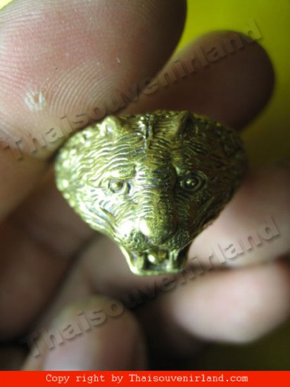 1103-RING-TIGER LP.PERN THAI AMULET REAL