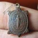 0173-OLD MAGIC TURTLE COIN THAI BUDDHA AMULET LP LEAW S