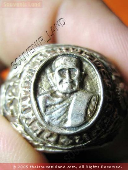 0200-OLD THAI MONK MAGIC BUDDHA AMULET RING LP TUAD