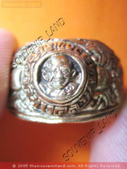 0212-OLD THAI MONK MAGIC BUDDHA AMULET RING LP NGERN