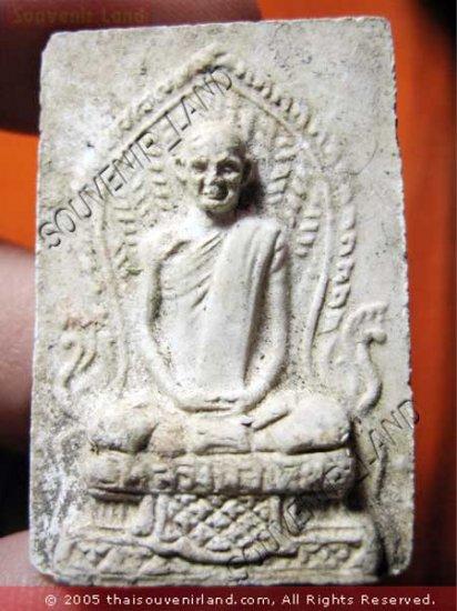 1067-VINTAGE OLD THAI BUDDHA AMULET SOMDEJ MONK LP DERM