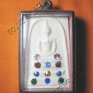 0939-THAI BUDDHA AMULET SOMDEJ GEMS CRYSTAL WAT RAKANG