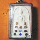 0935-THAI BUDDHA AMULET SOMDEJ GEMS CRYSTAL WAT RAKANG