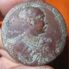 0915-OLD THAI BUDDHA AMULET COIN KING RAMA-5 EUROP TOUR