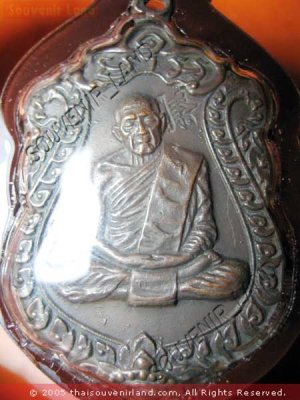 0833-THAI BUDDHA AMULET PENDENT WATERPROOF LP TIM SAMA8