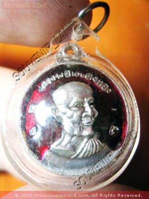 0820-THAI BUDDHA AMULET PENDENT WATERPROOF LP TAE RED