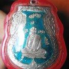 0819-THAI BUDDHA AMULET PENDENT WATERPROOF LP KLAN BLUE