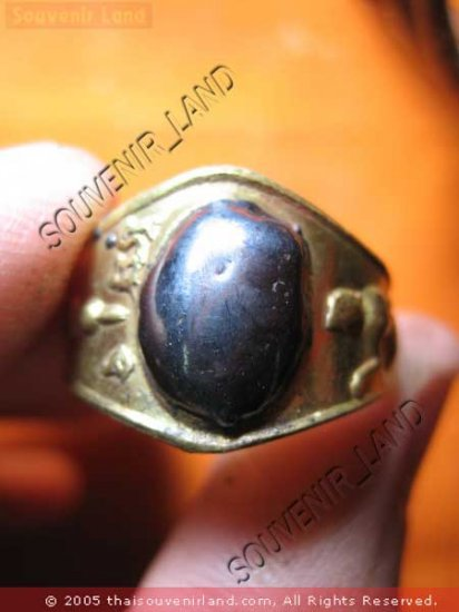 0799-OLD RARE THAI BUDDHA AMULET RING LP UOON LAK-LAI