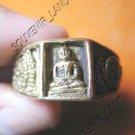 0797-VINTAGE OLD RARE THAI BUDDHA AMULET RING LP NGERN