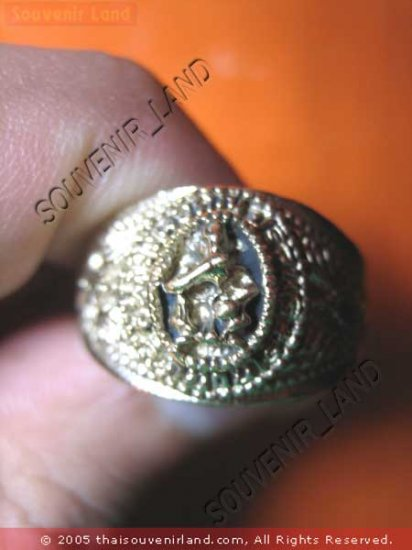 0792-VINTAGE OLD RARE THAI BUDDHA AMULET RING LP KOON