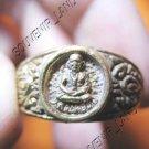 0791-VINTAGE OLD RARE THAI BUDDHA AMULET RING LP NGERN