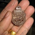 0689-OLD THAI BUDDHA AMULET LA-HOO LP NOI COCONUT SHELL