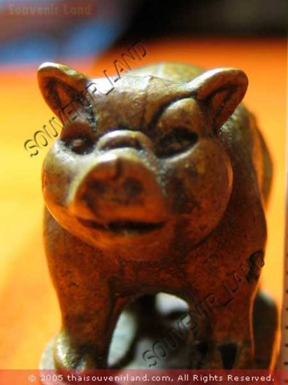 0551-THAI BUDDHA AMULET PIG TALISMAN LP PERN MAGIC RARE