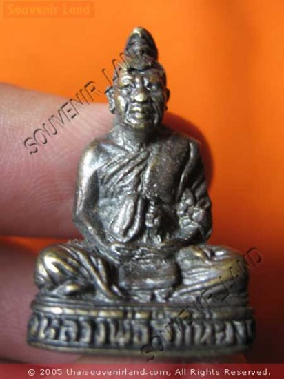 0451-THAI BUDDHIST AMULET FIGURE LP JUM-LONG REAL