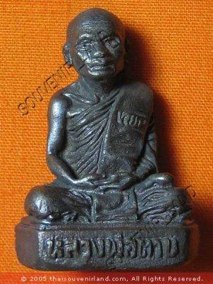 0447-THAI BUDDHIST AMULET FIGURE LP TARB OLD REAL