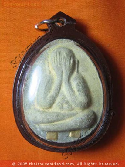 0470-THAI BUDDHIST AMULET CLOSE EYE PHA-PIT-TAH LP THOE