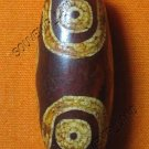 0236-NATURAL TIBETAN AGATE DZI BEAD AMULET MAGIC THAI