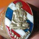 0384-OLD THAI BUDDHA RING AMULET LP TOB WAT CHON-DAN