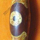 0229-NATURAL TIBETAN AGATE DZI BEAD AMULET MAGIC THAI M