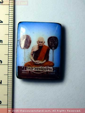 M095-OLD COLOR PHOTO LP NGERN THAI MONK BUDDHA AMULET