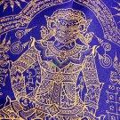 9726-THAI AMULET HOLY CLOTH PHAPIRAB GOD OF WISH PROTECT GIANT GHOST LP KALONG