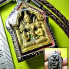 9207-THAI LOVE ATTRACT AMULET KHUN-PAEN CHARMING LEKLAI BLACK GOLD LP KEY YINT