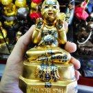 1818-THAI AMULET GAMBLING LUCKY GUMAN THONG LP YAM SUPER RICH GOLD PAINT 2009