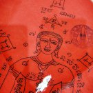 6698-FLAG CABALISTIC COTTON CLOTH LP YAM AMULET THAI REAL RED LADY ATTRACT LUCKY