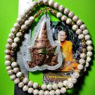 9769-REAL THAI AMULET TALISMAN PRA-LUCK CHARMING GOD GOLD FACE LP KALONG COPPER