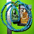 9573-REAL THAI AMULET LERSRI HERMIT TIGER FACE RICHLY LP KALONG GREEN JADE SKIN