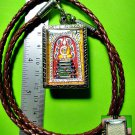 2205-THAI REAL AMULET SOMDEJ HANDMADE PAINT COLOR LP KOON 5 GOLD TAKUD 1994 RICH