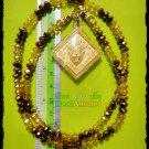 8147-REAL THAI AMULET PENDANT MONEY RICH WEALTH MONKEY 4EAR 5EYE KB SUBIN GOLD