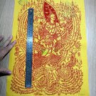 8446-CABALISTIC PRESTIGE CLOTH NARAI GOD GARUDA RIDER LP KALONG AMULET THAI REAL