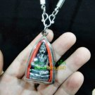 6202-THAI REAL AMULET PENDANT LERSRI TIGER FACE GRAND MASTER BRING LUCKY LP NAEN