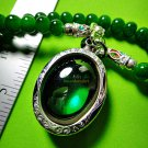7405-THAI REAL AMULET PENDANT NAGA EYE DIVINE BLESS RIVER GEM STONE RARE GREEN