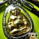 8183-SANKAJAI RICH GOD AMULET THAI LUCKY REAL 18K GOLD MASK WEALTH MONEY LP UPP